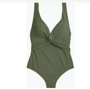 ❌SOLD❌ J Crew Twist-Front One-Piece Swimsuit